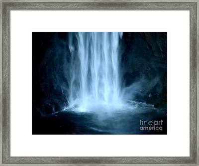Taughannock Falls Closeup  Framed Print