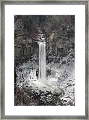 Taughannock Falls Framed Print by David Simons