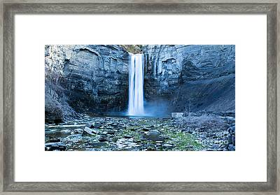Taughannock Falls In Spring Framed Print