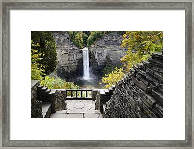 Taughannock Falls Overlook Framed Print by Christina Rollo