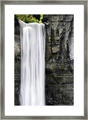 Taughannock Falls Top Of The Waterfall Framed Print by Christina Rollo