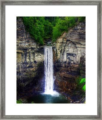 Taughannock Falls Ulysses Ny Framed Print by Tim Buisman