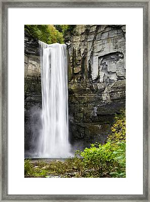 Taughannock Falls View From The Bottom Framed Print by Christina Rollo