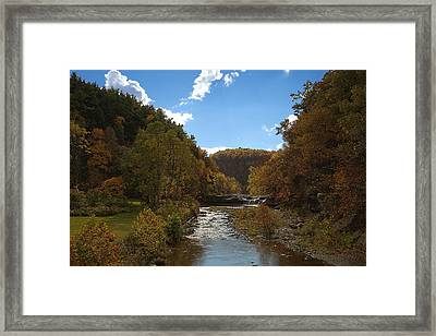Taughannock Lower Falls Ithaca New York Framed Print by Paul Ge