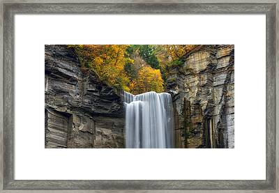 Taughannock Top Framed Print by Mark Papke