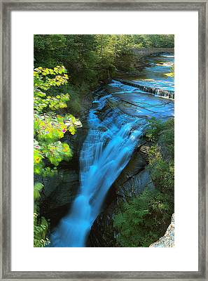 Taughannock Upper Falls Ithaca New York Framed Print by Paul Ge