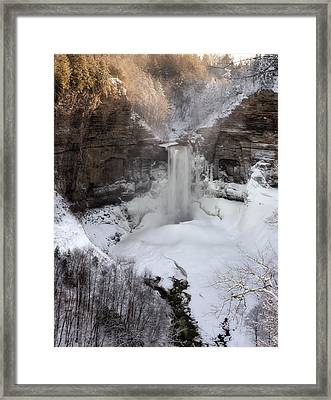 Taughannock Winter Framed Print by Mark Papke