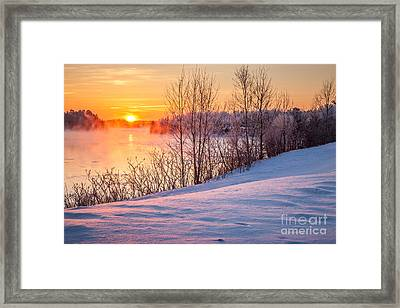 Taunton River Sunrise Framed Print by Susan Cole Kelly