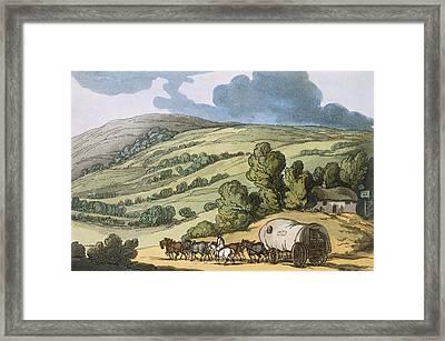 Taunton Vale, Somersetshire Framed Print by Thomas Rowlandson
