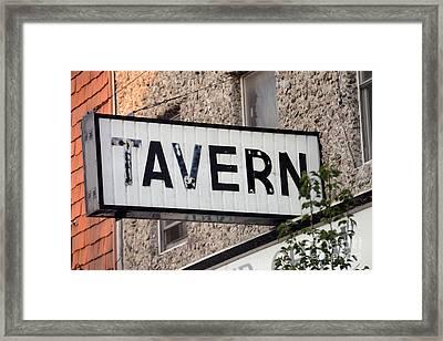 Tavern  - Strsch Framed Print by Stephen Host