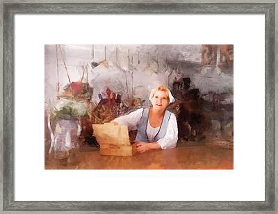 Tavern Barmaid Framed Print