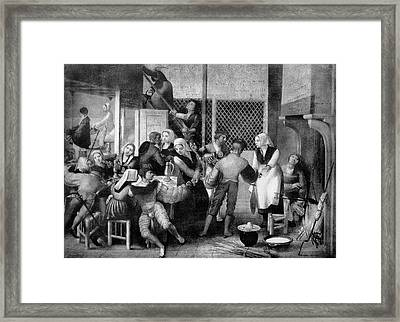 Tavern Scene Framed Print by Bildagentur-online/th Foto/science Photo Library