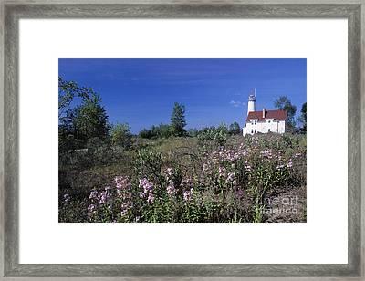 Tawas Point Light - Fs000821 Framed Print by Daniel Dempster