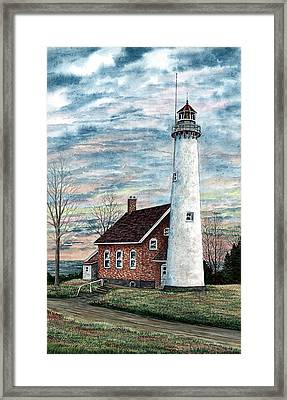 Tawas Point Light Framed Print