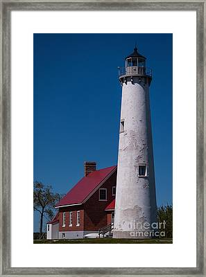 Framed Print featuring the photograph Tawas Point Lighthouse by Patrick Shupert