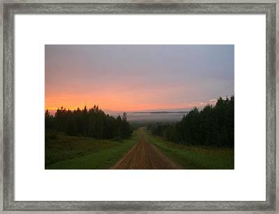 Tawatinaw Sunrise Framed Print