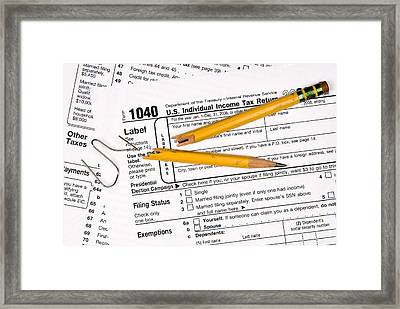 Tax Forms And Frustration Framed Print