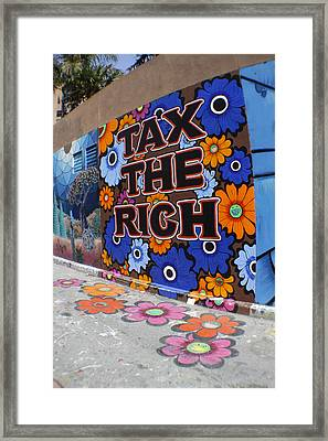 Tax The Rich Framed Print