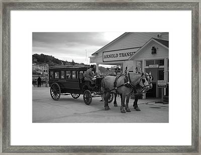 Taxi 10416 Framed Print by Guy Whiteley