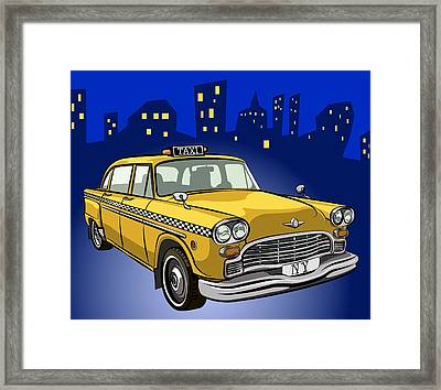 Taxi Cab Framed Print by Volodymyr Horbovyy