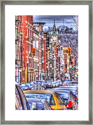 Taxi Framed Print by Daniel Sheldon