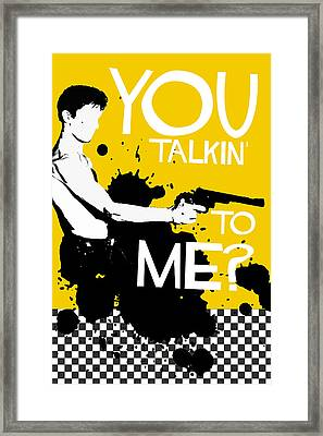 Taxi Driver Movie-quote-with-a-gun Framed Print by Edgar Ascensao