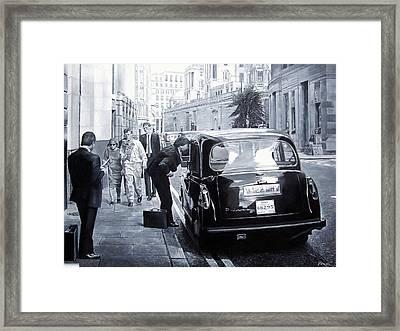 Taxi Hire, 2008 Oils Framed Print