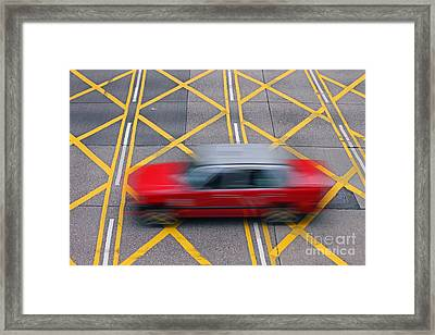 Taxi Framed Print by Lars Ruecker