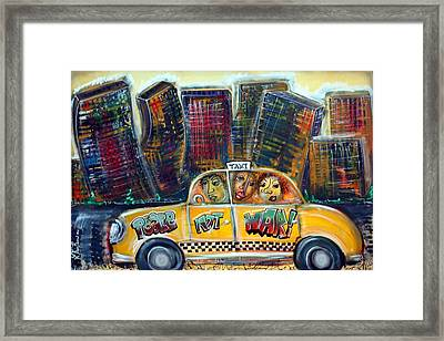 Taxi Framed Print by Laura Barbosa