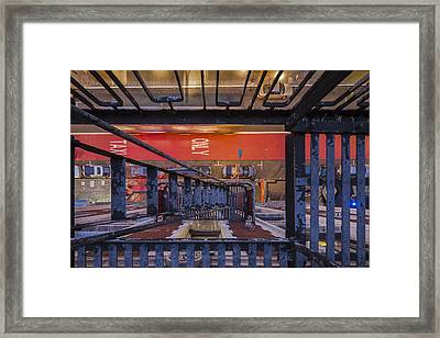 Taxi Only But Bus Framed Print
