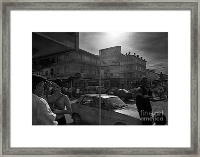 Taxi Point Framed Print by Candido Salghero