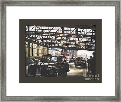 Taxi-waterloo. Framed Print by Caroline Beaumont