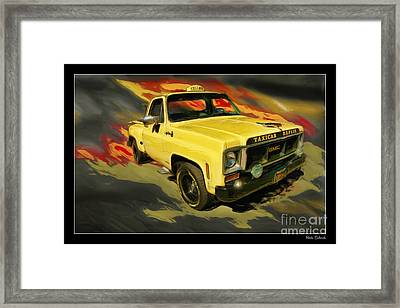 Taxicab Repair 1974 Gmc Framed Print by Blake Richards