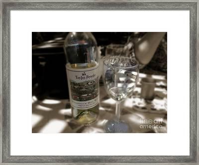 Taylor Brooke Table White Framed Print