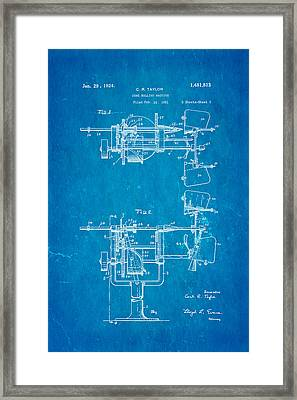 Taylor Cone Rolling Machine Patent Art 1921 Blueprint Framed Print by Ian Monk