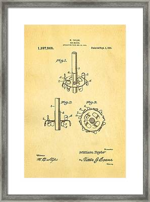 Taylor Egg Beater Patent Art 1916 Framed Print by Ian Monk