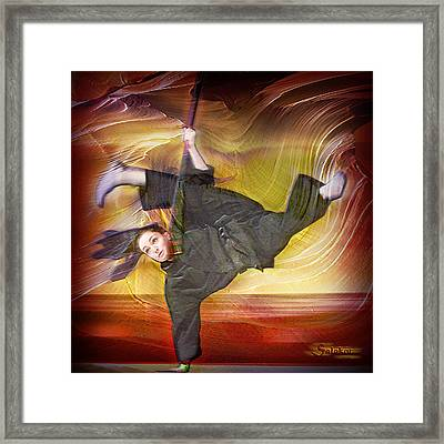 Taylor Lynch Action Portrait Framed Print by Salakot