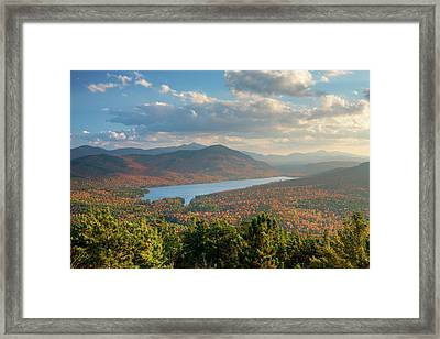 Taylor Pond Seen From Silver Mountain Framed Print