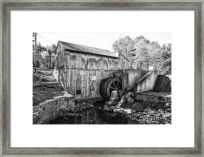Taylor Sawmill - Derry New Hampshire Usa Framed Print by Erin Paul Donovan