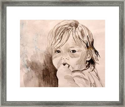 Taylor -- What Pacifier? Framed Print