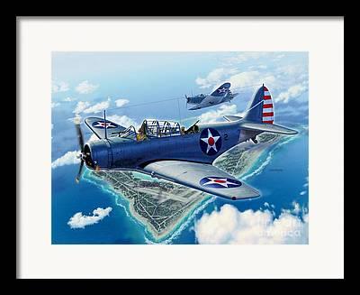 Devastator Torpedo Bombers Framed Prints