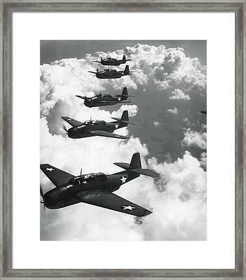 Tbf Torpedo Fighter Bombers Avengers Framed Print