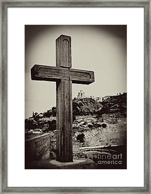 Tbilisi Cross Framed Print by Emily Kay