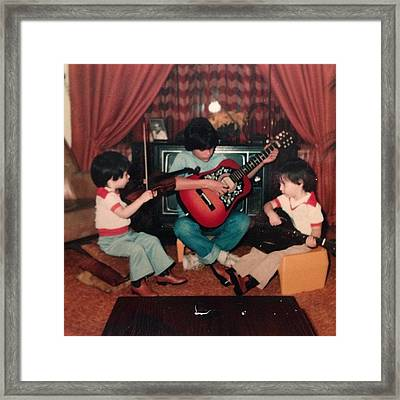#tbt Me My Twin Daniel And Brother Framed Print