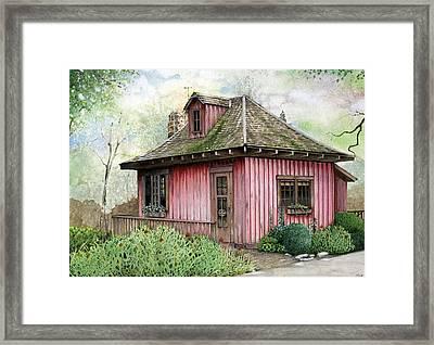 T.c. Steele Cottage Framed Print by John Christopher Bradley