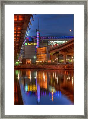Td Garden - Breast Cancer Awareness - Boston Framed Print by Joann Vitali
