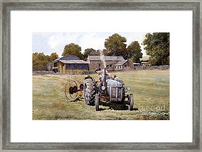 Te20-fergy In The Fields Framed Print by Anthony Forster