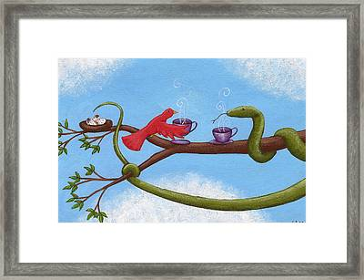 Tea And Eggs Framed Print by Christy Beckwith