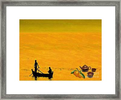 Tea And Oranges Framed Print by Mojo Mendiola