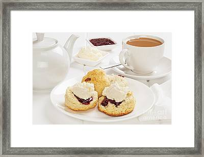 Tea And Scones Framed Print by Colin and Linda McKie